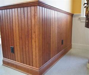 wood stain vs painted Wainscoting / Walls Pinterest