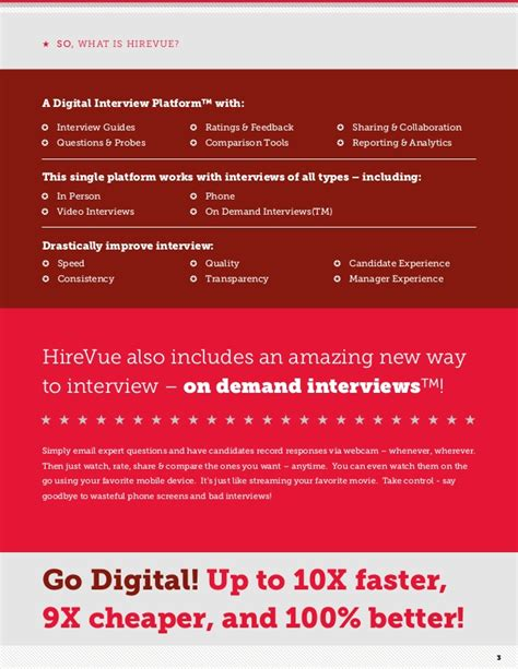 hirevue interview questions hire vue overview brochure