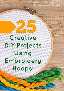 25 Creative DIY Projects Using Embroidery Hoops
