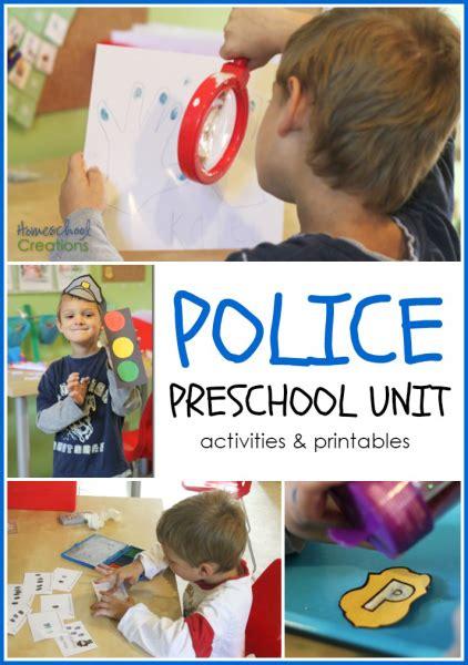 office preschool and kindergarten unit 229   police preschool unit activities and printables from Homeschool Creations 422x600