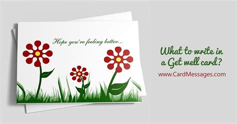 Jan 02, 2019 · what to write in a get well card. Get Well Wishes. What to Write in a Get Well Soon Card   Page 4 of 5   CardMessages.com