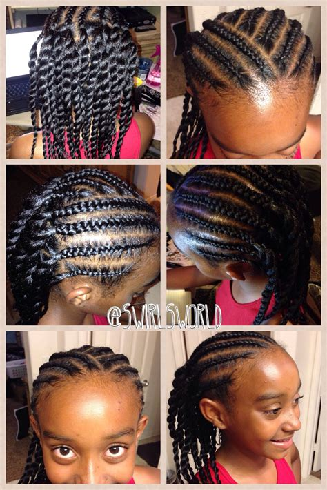 easy braids and twisties hairstyles braids for kids and