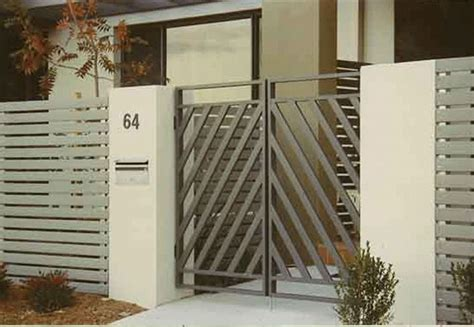 simple front gate design love trend sturdy cement columns
