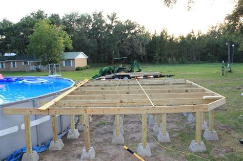 Deck Around Intex Pool by Pool Decks Picmia