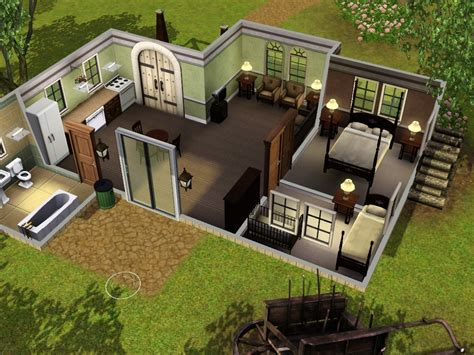 Rustic Modern Kitchen Ideas - family homes for sims 3 at my sim realty