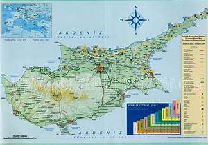 Northern Cyprus Map  Road Map Of North Cyprus  Tourist