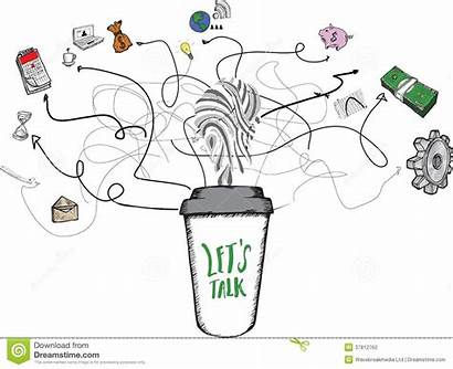 Talk Coffee Lets Cup Concept Background
