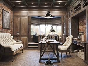 Decoración de despacho interior elegante y moderno - 34 ...
