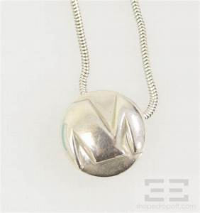 tiffany co sterling silver m initial pendant necklace ebay With tiffany silver letter necklace