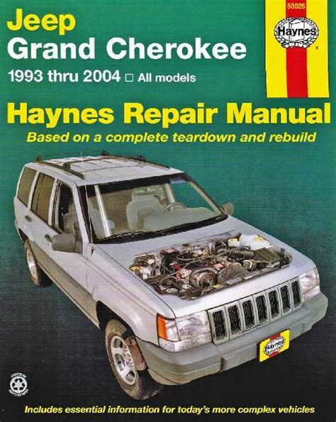 automotive repair manual 2003 jeep grand cherokee parking system jeep grand cherokee haynes service repair manual 1993 2004 sagin workshop car manuals repair