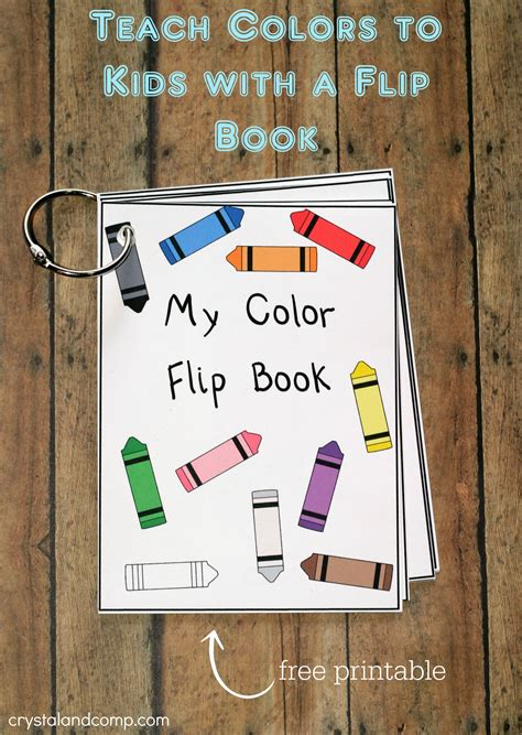 teach colors to free printable 417 | teach colors to kids with a flip book free printable