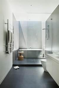 salle de bain sol gris mur blanc maison design bahbecom With salle de bain sol gris mur blanc