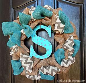 Barksdale Blessings: DIY Burlap Ribbon Wreath   Winter ...