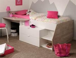 Jugendzimmer Für Mädchen : hochbett mika f r m dchen und jungen 90x200cm wei grau ~ Michelbontemps.com Haus und Dekorationen