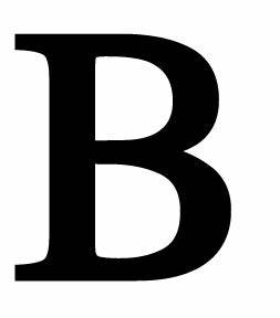 Opentip Village Wrought Iron LET B Letter B