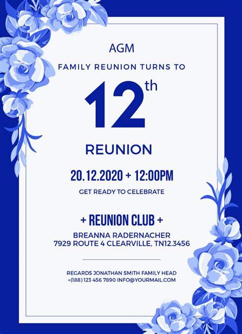 reunion invitation templates psd ai
