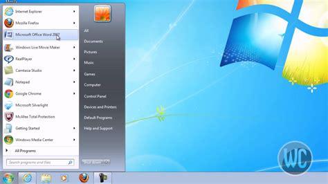 windows  pinning programs  start menu  task bar