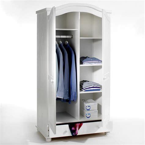 armoire en pin bergen lasur 233 blanc mobil meubles