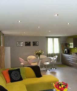 Spot Plafond Salon : plafond tendu blanc avec spots int gr s espace film 39 s france ~ Edinachiropracticcenter.com Idées de Décoration