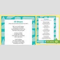 3d Shapes Song  Shape, Measure, Pattern, Eyfs, 3d, Sphere