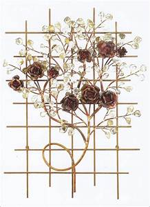 Italian rose garden metal wall art