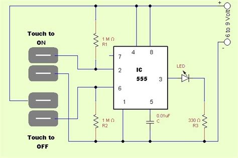 One Touch Onoff Switch Circuittheorycircuit