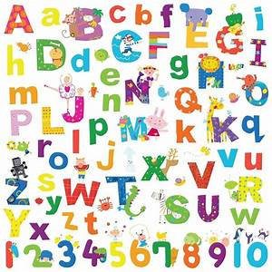 Alphabet lazoo letters wall decals school numbers abc