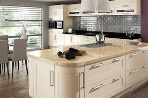 Cream gloss kitchen on pinterest gloss kitchen white for Kitchen colors with white cabinets with steve mcqueen wall art