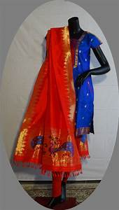 Touch of class paithani sarees dress material