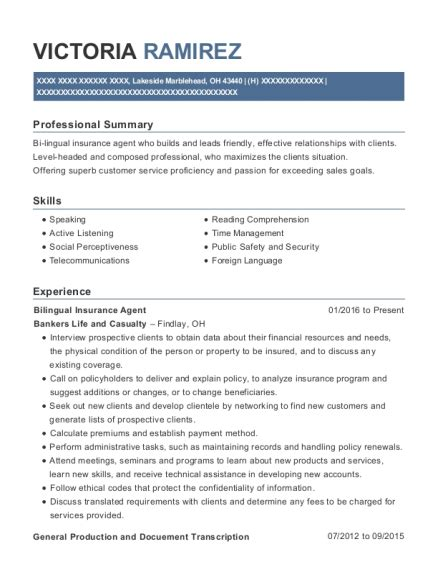 I initially heard about this company through geico auto insurance at the time it seemed okay as i never experienced issues with geico and the fact they recommended the company i went with assurant for renters insurance. Aflac Insurance Agent Resume Sample - Valdosta Georgia | ResumeHelp