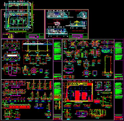 service station dwg detail  autocad designs cad