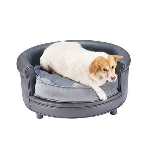 dog beds for the sofa chesterfield faux leather large dog bed designer pet sofa