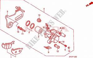 Rear Brake Caliper For Honda 125 Varadero 2009   Honda