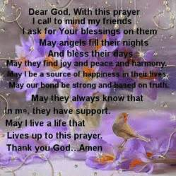 prayer for friends inspirational