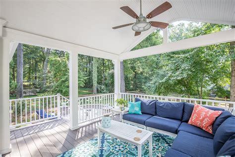 cottage style porch west  richmond va rva remodeling llc
