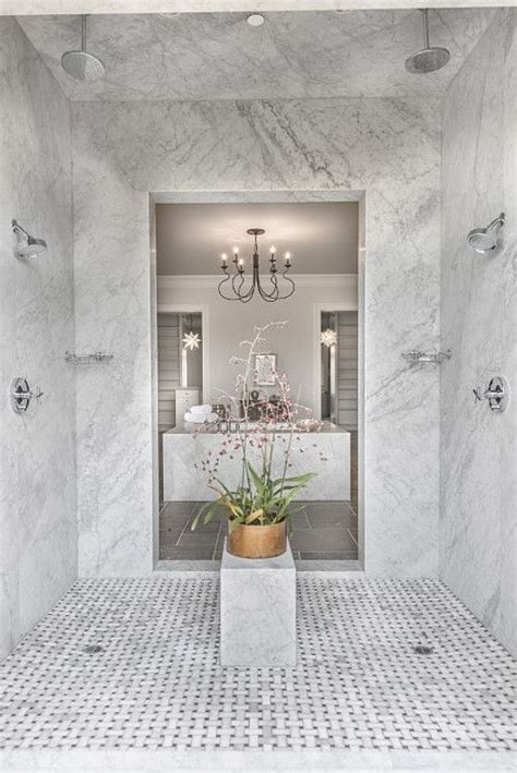shower  walk  shower features marble slab walls