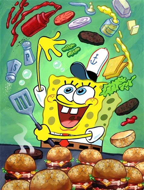 spongebob cuisine snap spongebob illustration for the