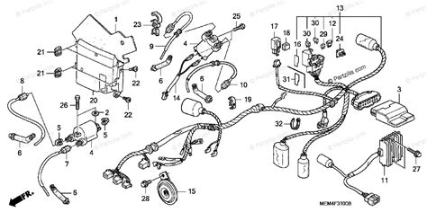 honda motorcycle 2006 oem parts diagram for wire harness partzilla