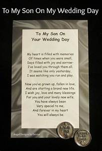 to my son on your wedding day token set pinteres With son to mother wedding gifts