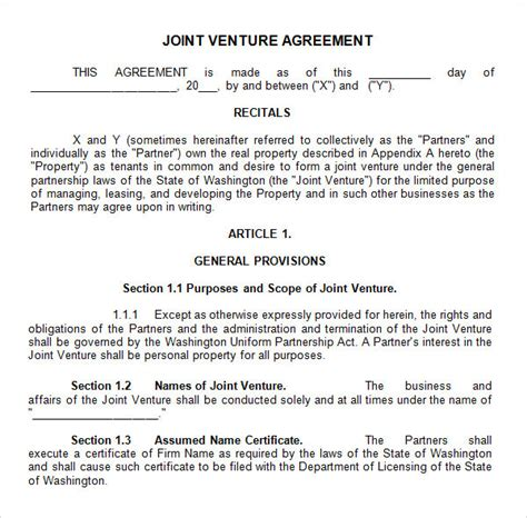 joint venture agreement  business mentor