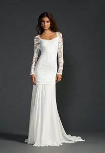 long lace sleeve wedding dress with stunning low back and With silk wedding dresses low back