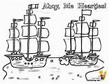 Coloring Pirate Ship Ships Sheet Battle Seas Boys Pirates Yescoloring Boats sketch template