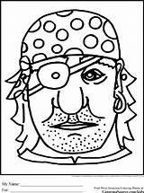 Coloring Pirate Masker Colorare Maschera Pirata Knutselen Piraat Carnaval Eye Kleurplaat Patch Caretas Piratas Malvorlage Disegno Mascaras Dibujos Colorear Careta sketch template