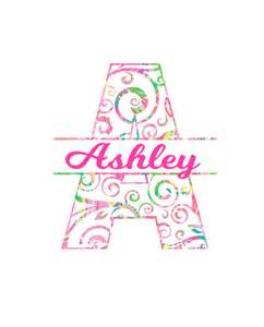 Swirly Split Letter Monogram Decal in many preppy prints and sizes!