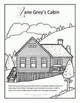 Cabin Coloring Pages Log Zane Grey Adult Outline Clip Adults Lake Arizona Books Mobile Popular Template Sketch sketch template