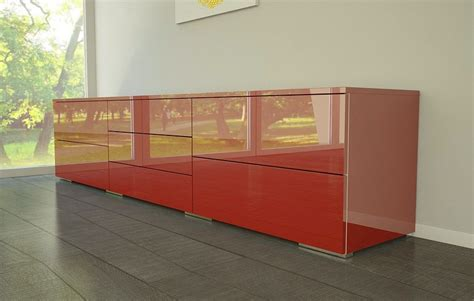 Highboard Rot Hochglanz  Hause Deko Ideen