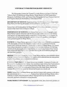 photography contract template free sample for wedding With sample wedding photography contract