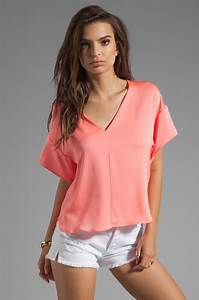Lyst - Milly Stretch Silk Crepe Kimono Blouse in Pink  Silk