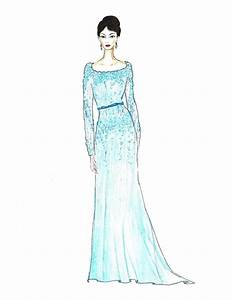 Girl in teal dress fashion illustration turquoise gown with