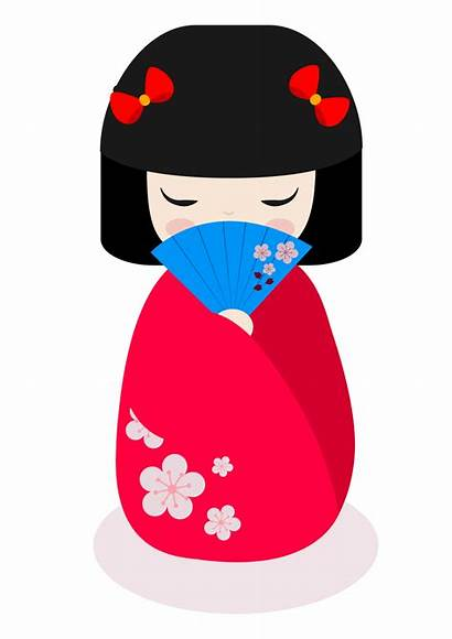 Clipart Doll Kokeshi Dolls Transparent Japanese Ancient